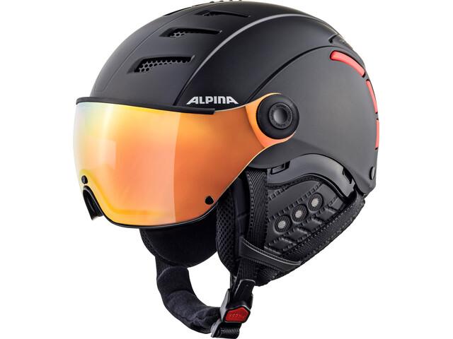 Alpina Jump 2.0 QVMM Casco de esquí, black-red matt